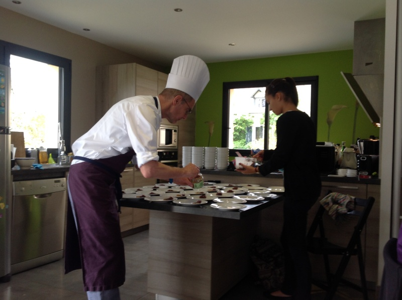 The chef with his assistant